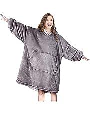 Seogva Oversized Sherpa Hoodie, draagbare hoodie sweatshirt deken, super zacht, warm, comfortabele deken hoodie, één maat past iedereen, mannen, vrouwen, meisjes, jongens, vrienden
