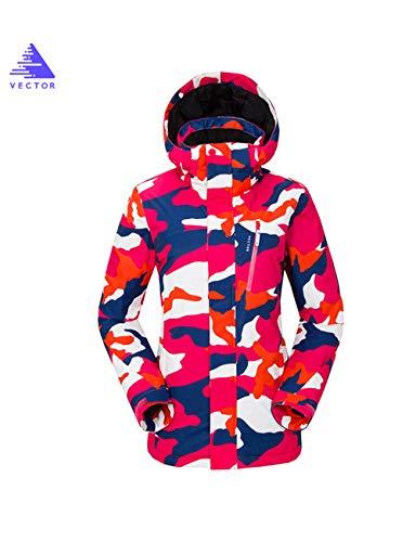 Da Donne Pink Snowboard Antivento Sci Invernale Impermeabile Camouflage Montagna Cute Vector Outdoor Caldo Pioggia Neve Soprabiti Giacca Cappotto qBCxwdqE