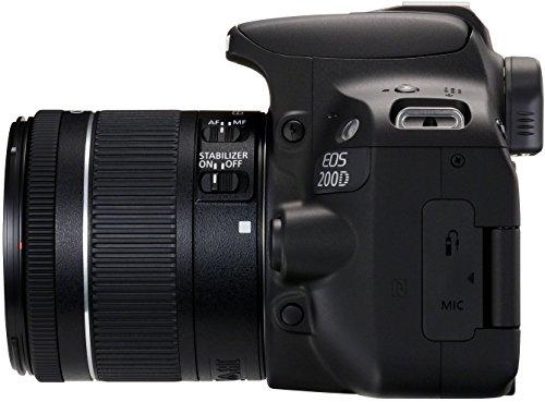 Canon EOS 200D Fotocamera Digitale Reflex con Obiettivo EF-S 18-55mm f/4-5.6 IS STM, Nero 3 spesavip
