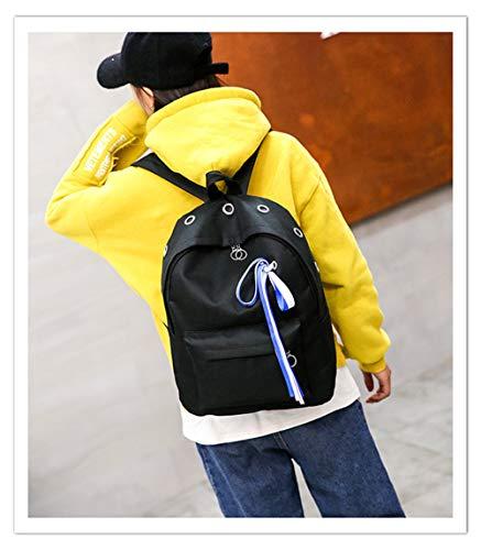 Señora Del Nylon Aire Estudiante Simple Libre Viaje Capacidad Mochila Gran Al De Vhvcx Bolso Hombro Salvaje C Bolsa Tela zx4Bax