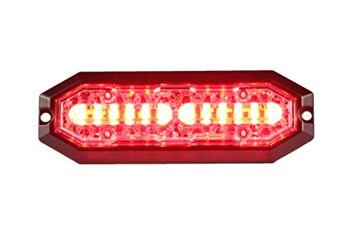 Unicorn Lighting UT01 Surface Mount Warning Emergency Strobe Grille Light Head [SAE class 1] [Dual Color] for Police and truck vehicle Red