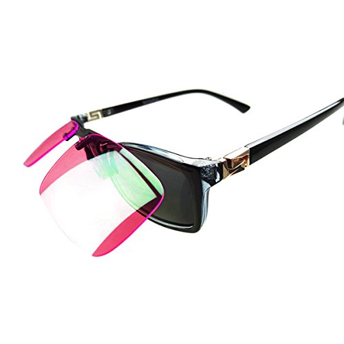 Colorblindness Corrective Glasses 180° Flippable Clip On Colorblind Correction Lens with Box for Red Green Color Blind Vision - Enhancing Color Glasses