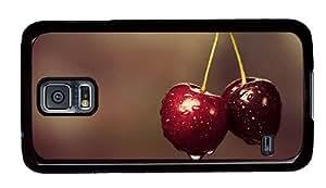 Hipster Samsung Galaxy S5 Case cassette cases Wet Cherries PC Black for Samsung S5