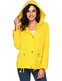Amazon.com: Yellows - Trench, Rain & Anoraks / Coats, Jackets ...