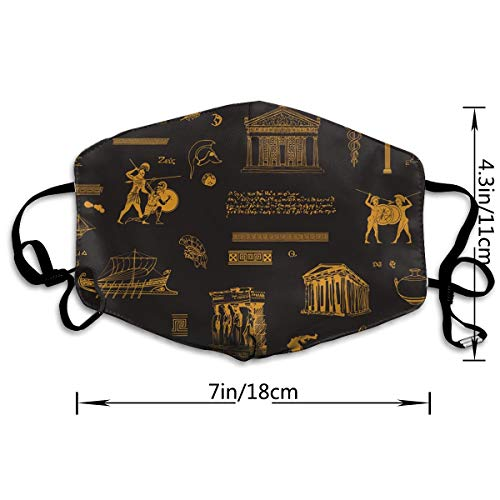 NOT Mask On Theme Ancient Greece Mask Face Masks for Allergies Woodworking Running Sanding Mowing Half Mask for Women Men