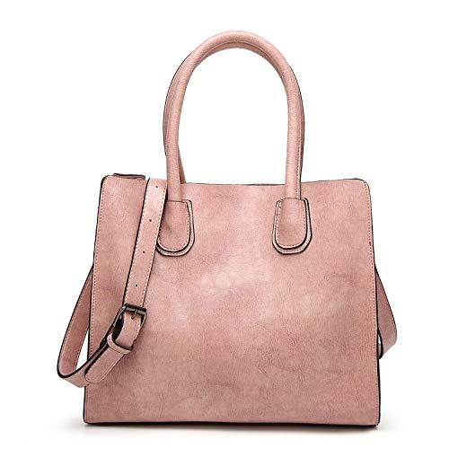 semplice Handbag Borsa in tracolla D colore B a Fashion Ms Metallic Pu Zipper pelle Eeayyygch Ez81qnH