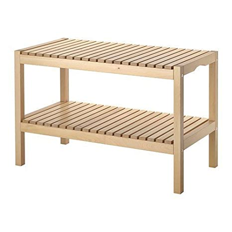 Panche Di Legno Ikea.Ikea Molger Panca In Legno Massiccio Di Faggio Amazon It Casa E Cucina