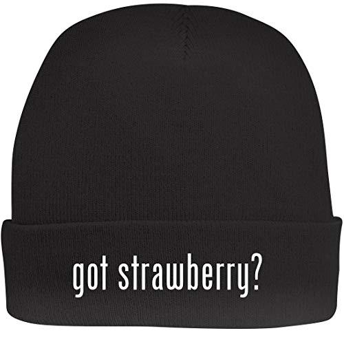 - Shirt Me Up got Strawberry? - A Nice Beanie Cap, Black, OSFA