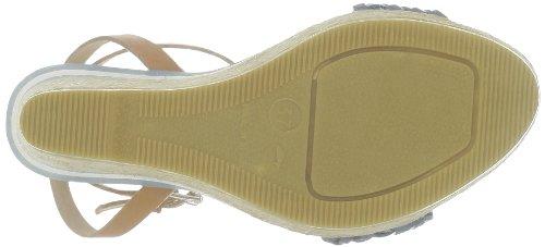 US Polo Assn - Sandalias de cuero para mujer Azul (Bleu (Cuo/Blue))