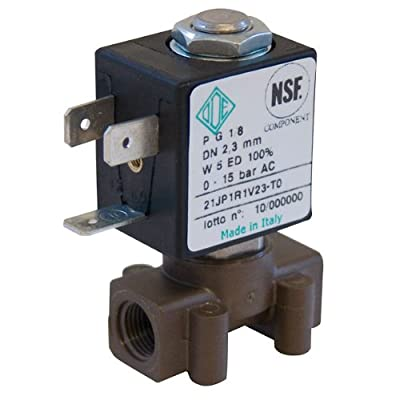 """NSF-Certified Two-Way Solenoid Valve, PPS; NC, 1/8""""NPT(M), 24VAC from COLE-PARMER"""