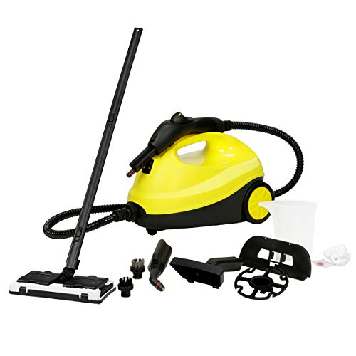 Bocca Multi-Purpose Steam Cleaner, Adjustable Heavy Duty Rolling Cleaning Machine for Carpets, Floor with 13 Accessories, 2000W, 2L Capacity (Powerful Steam Cleaner)