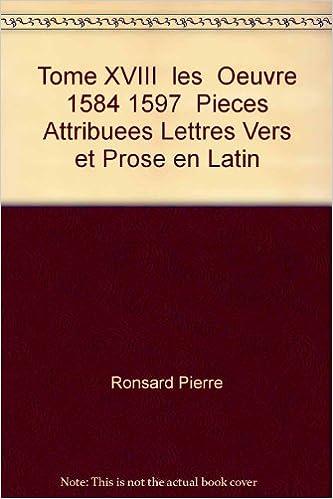 Lire Oeuvres complètes, tome 18 : Pièces attribuées pdf
