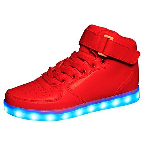 iBaste USB carga niños colorido luminosos zapatos de Velcro para los muchachos llevaron luz de Flash zapatos colores 1