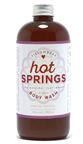 Hot Springs The Original Clay Based, Spa Quality, Natural Body Wash. Anti-Bacterial, (Natures Gate Natural Acne Treatment)