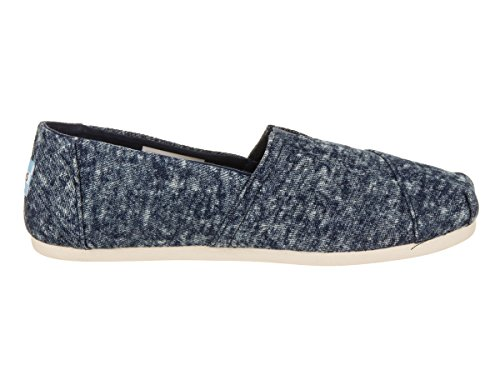 TOMS Womens Classic Linen Rope-Sole Comfortable and Easy-Fit Slip-On Navy Washed Denim 3e5dC4dxFQ