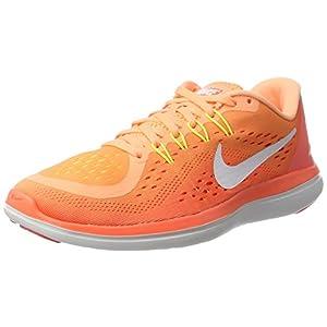 NIKE Women's Flex 2017 RN Running Shoe Orange (6.5)