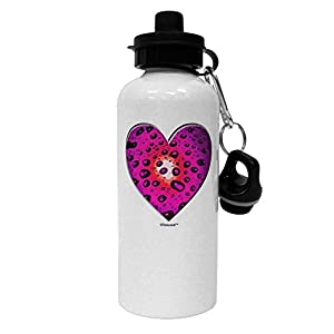TooLoud Water Droplet Heart Magenta Aluminum 600ml Water Bottle - White
