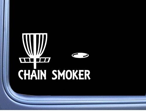Chain Smoker Disc Golf L778 8 inch Sticker putter driver basket Decal (Golf Driver Decal)
