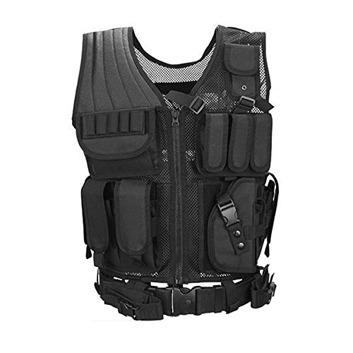 Lovelysunshiny Combat Vest Mesh Breathable schwarz Tactical Vest Field Operations Equipment