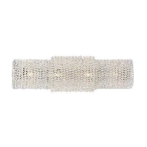 - Eurofase 31781-015 Sposa Modern 4 Wall Sconce, Crystal Beaded Glass 4 G9 Light Bulbs, 21.25 Inches Wide-Model, Chrome Finish