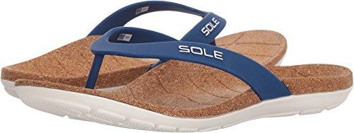 (SOLE Beach Flips - Womens Orthotic Sandals Nautical - 7)