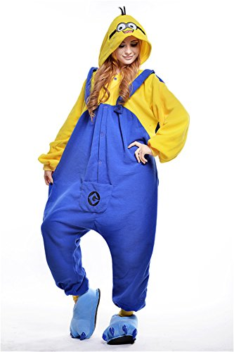[VU ROUL Sleepwear Adult Cosplay Pajamas Minions Costume Homewear XL Yellow] (Pajamas Dance Costumes)