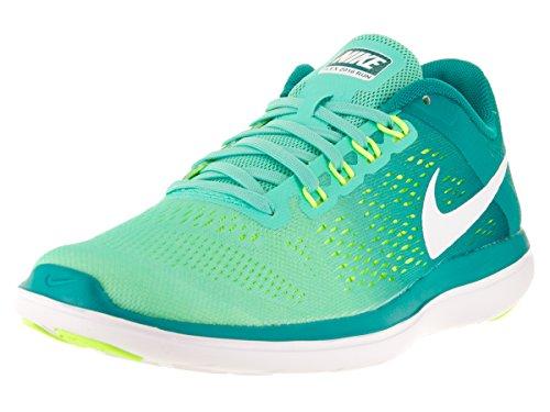 NIKE Women's Flex 2016 Rn Running Shoes Hyper Turquoise/White/Rio Teal/Volt