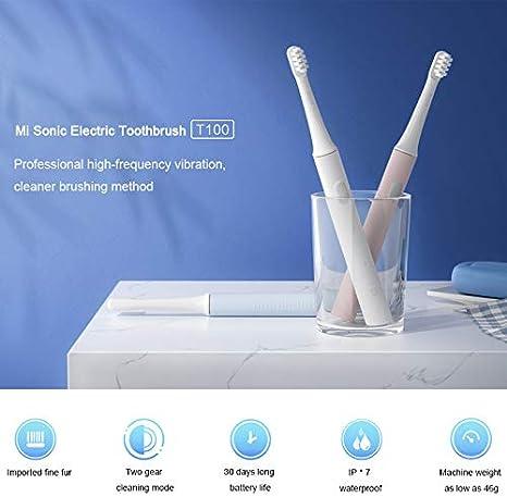 MI Mijia T100 Spazzolino elettrico sonico Smart Adult Spazzolino automatico ad ultrasuoni Spazzolino impermeabile ricaricabile USB