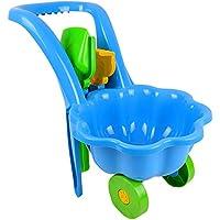 Tuingereedschap voor kinderen, kruiwagen, tuin, kinderen, speelgoed, zandbak, schep en hark, blauw