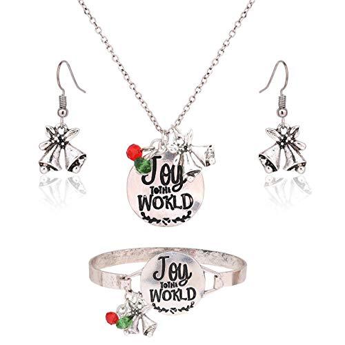 MOLOCH Christmas Necklace Earring Bracelet Set