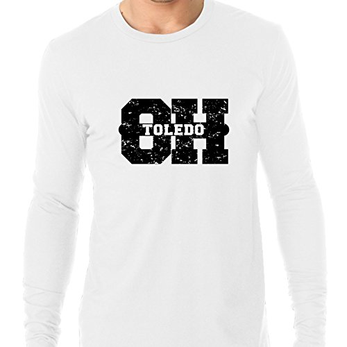 Hollywood Thread Toledo, Ohio OH Classic City State Sign Men's Long Sleeve T-Shirt -