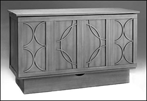 (fu-chest Queen CREDEN-ZZZ Brussels Cabinet Bed in The New Charcoal Color)