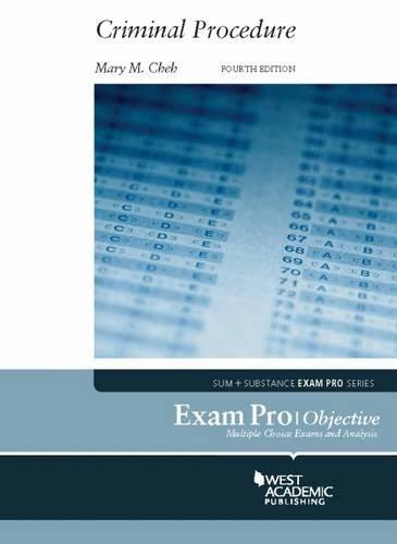 Pdf Law Exam Pro on Criminal Procedure, 4th (Exam Pro Series)