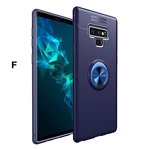 Price comparison product image Galaxy Note 9 Case, Buybuybuy Soft TPU+Metal Ring Buckle Stand Holder Back Case Protective Cover Bumper Protective Phone Cover for Samsung Galaxy Note 9(2018 NEW) (F)