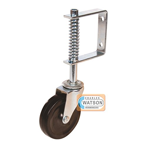 Silverline Wheel (100MM Spring Loaded Non Marking Swivel Gate Jockey Wheel by Silverline)