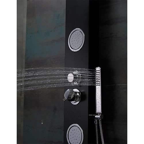 hot sale SAEKJJ-Shower Faucet Contemporary Waterfall / Rain Shower / Sidespray / Handshower Included Aluminum Painting Bathroom faucet