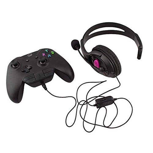 Amazon Com Leegoal Xbox One Stereo Headset Adapter Game Audio Chat