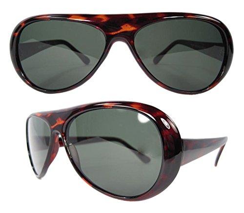 [Men's Bruce Lee Style Costume Glasses (Tortoise Shell)] (Bruce Lee Enter The Dragon Costume)