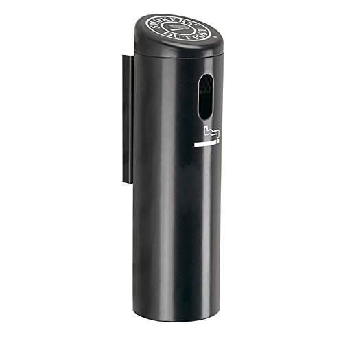 Wall-Mounted Ashtray Cigarette Receptacle Color: Black
