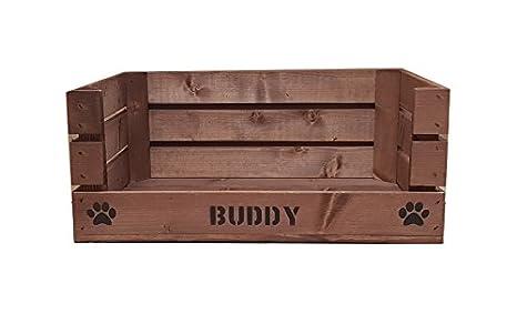 Cama de madera personalizada para perro o gato: Amazon.es: Productos para mascotas