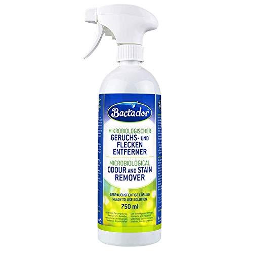 Bactador Geruchsentferner und Fleckenentferner Spray 750ml – Mikrobiologischer Geruchsneutralisierer und Enzymreiniger…