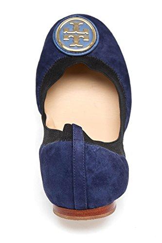 Suede Lux 2 5 Black Soho Blue 5 Size Caroline Tory Shoe Flat Ballet Burch 0IFfEZ