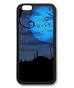 Bats over Cemetery Halloween Protective Soft & Smooth TPU Back Fits Cover Case for iphone 6 Plus 5.5-1122012