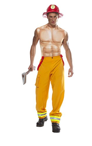 Costume Culture Men's Sexy Firefighter Dude Costume Extra Large, Yellow, X-Large