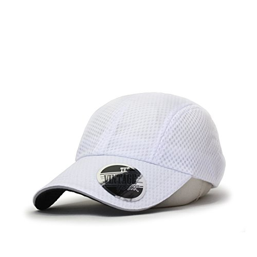 Plain Pro Cool Mesh Low Profile Baseball Cap with Adjustable Velcro ()