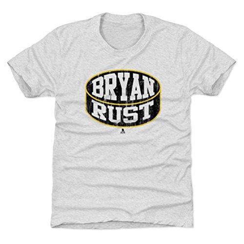 500 LEVEL Pittsburgh Hockey Youth Shirt - Kids X-Large (14-16Y) Tri Ash - Bryan Rust Puck K