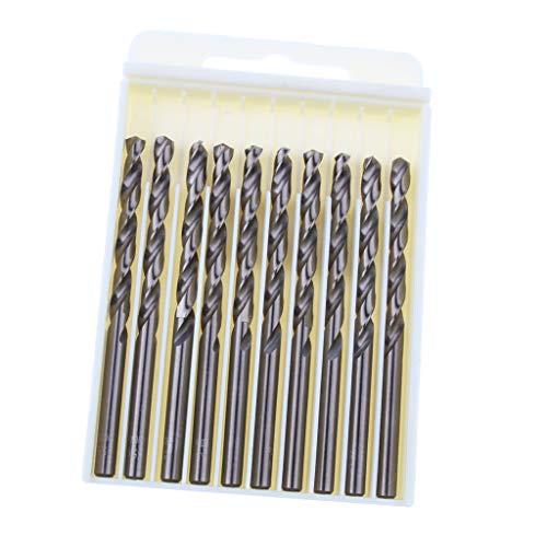 Almencla 10Pieces High Steel Drill Straight Shank Twist Metal Drill Bit - as shown, 5.6mm