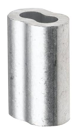 Aluminium Crimpen Loop Sleeve für 1/40,6 cm Durchmesser Draht Seil ...