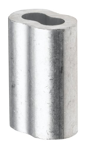 Pack of 100 Aluminum Crimping Loop Sleeve for 1//16 Diameter Wire Rope and Cable,