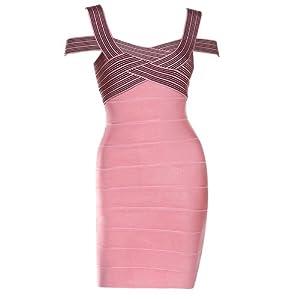 """Lumé Women's """"Paris"""" Off-shoulder Pink Dress SIZE (XS)"""